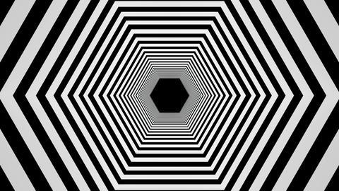 hexagonal tunnel Stock Video Footage