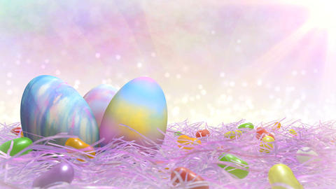 Easter Title Background Stock Video Footage
