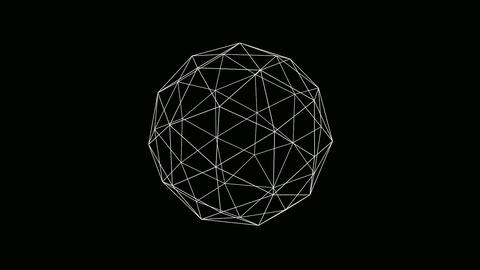 icosahedron wire Animation
