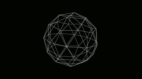 icosahedron wire Stock Video Footage