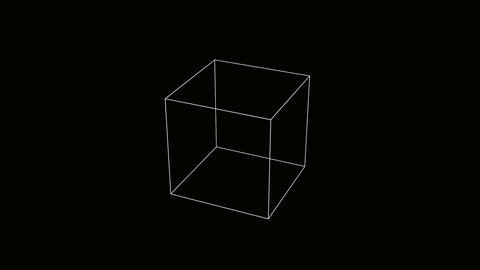 cube outline Animation