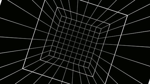 rotating cube grid Stock Video Footage