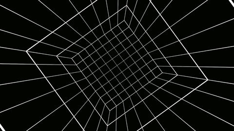rotating cube grid Animation