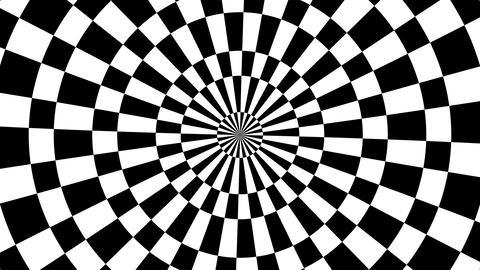 checkboard hypnotize Stock Video Footage