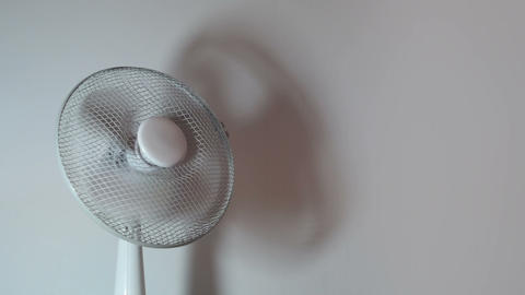 Office equipment - Electric Fan (loop) Stock Video Footage
