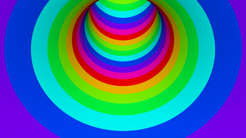 colour tunnel Animation