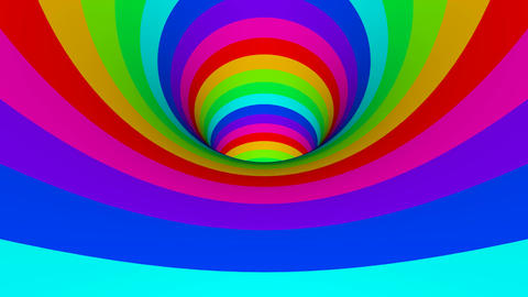 colour tunnel Stock Video Footage