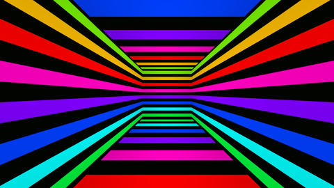 colorfull box stripes Animation