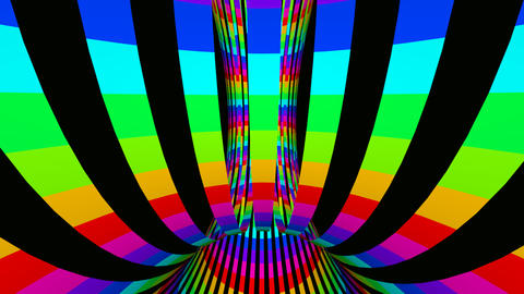 colorfull tunnel Stock Video Footage