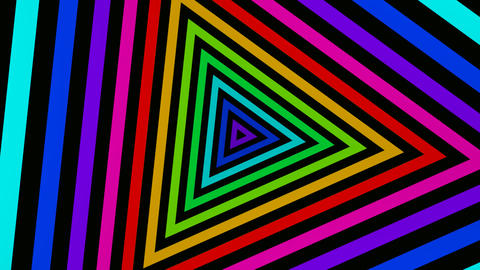 triangle stripes tunnel Stock Video Footage