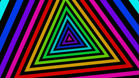 triangle stripes tunnel Animation