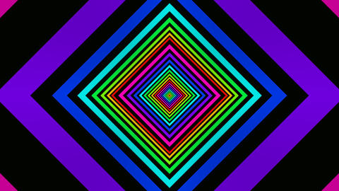 rainbow square tunnel Stock Video Footage