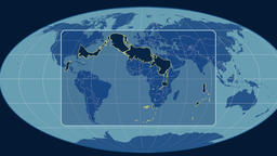 Turks and Caicos Islands - 3D tube zoom (Mollweide projection). Solids Animation