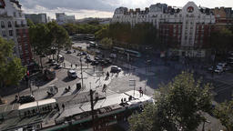 traffic on streets in Paris Footage