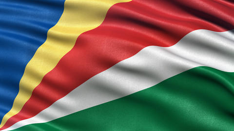 Seychelles flag seamless loop Animation