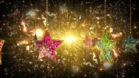 Stained Glass Mosaic Star Lamp CG動画