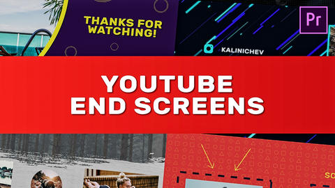 YouTube End Screens Premiere Pro Template