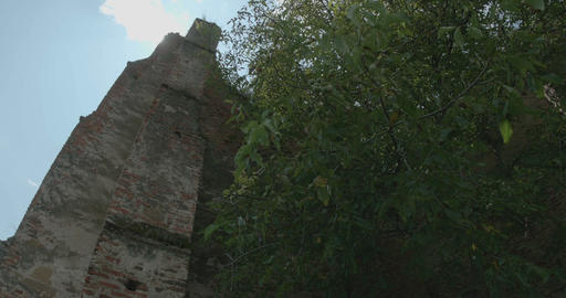 Sun Rays over Ruins of Castel Footage
