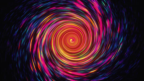 Fast Rotating Multicolored Spiral Vortex Animation