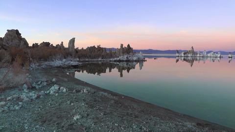 Mono Lake California, USA. This amazing lake is near Yosemite National Park, CA. colorful sunset Live Action