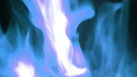 Blue Fire Flames in Super Slow Motion, Shooted with High Speed Cinema Camera Live Action