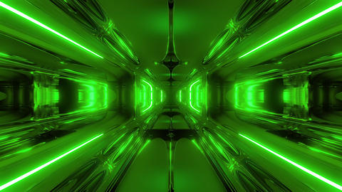 alien ship corridor tunnel wallpaper 3d rendering 3d illustration vj loop Animation
