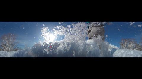 japow powder snow selfy 12 Low - Angle VR 360° Video