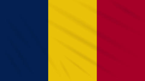 Chad flag waving cloth background, loop Animation