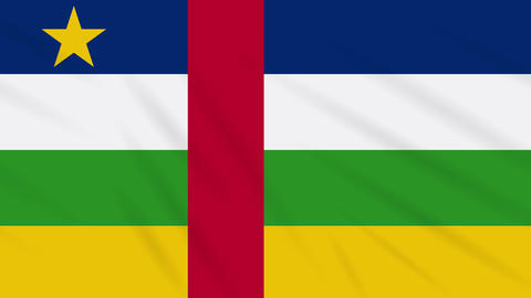 Central African Republic flag waving cloth, loop Animation