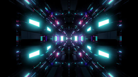 beautiful futuristic scifi space ship tunnel background 3d illustration 3d Animation