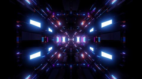 beautiful futuristic scifi space ship tunnel background 3d illustration 3d Animation