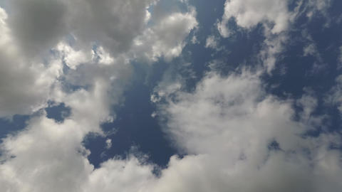 Clouds in the blue sky, timelapse 4K footage Animation