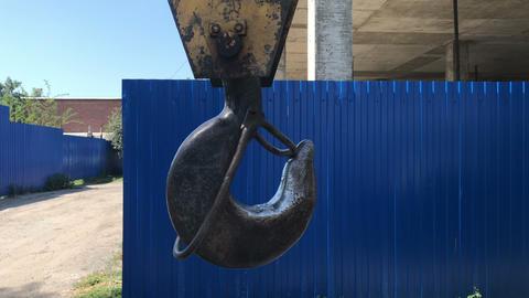 crane hook swing, close-up Footage