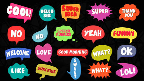 Modern Speech Bubbles After Effects Template