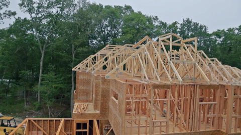 House timber frame for a progressing house a new development timber Footage