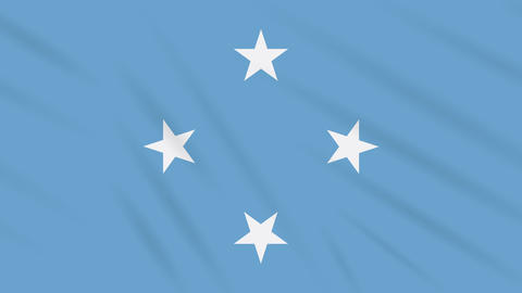 Micronesia flag waving cloth background, loop Animation