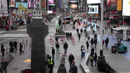 tourists taking picture in times square new york Footage