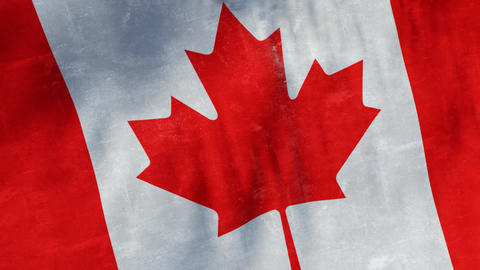 Flag of Canada looping background Animation