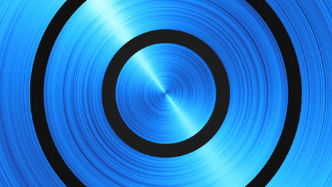 Animation rotation of bluish radial steel Animation