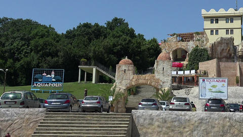 Aquapolis. The Golden Sands resort. Varna. Bulgaria Footage