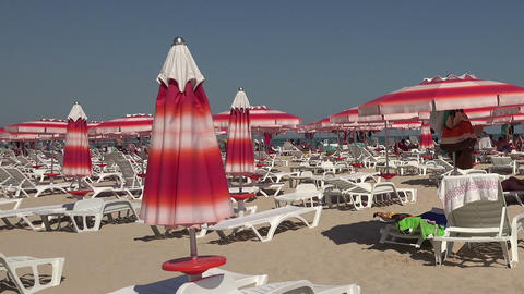 The beach in Albena. Resort Spa in Bulgaria Footage