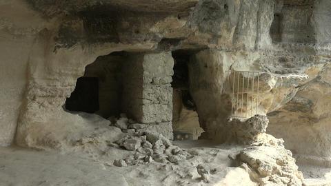 Aladzha Monastery in the mountains. Varna. Bulgaria Footage