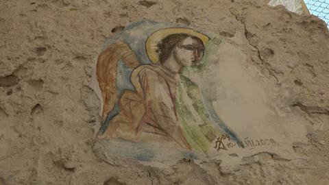 Icon in the Monastery Aladza. Varna. Bulgaria Footage