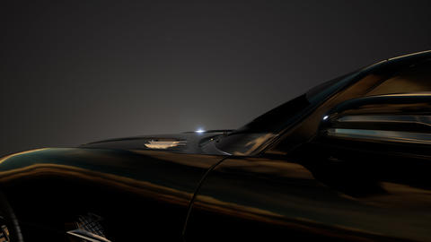 luxury sport car in dark studio with bright lights Footage