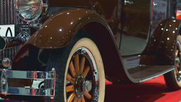 Luxury brown vintage vehicle Footage