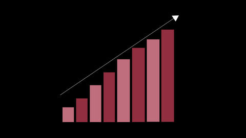 Animated Bar chart Stock Video Footage