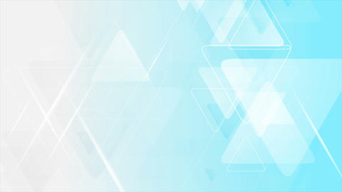 Blue grey triangles tech abstract video animation Animation