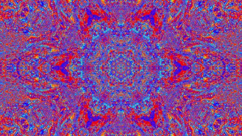 Kaleidoscope dynamic elegant iridescent background. Fractal transformations Footage