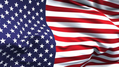 Flag USA CG動画