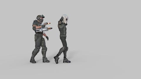 sci fi scene escort escorted captive alien,transparent background Footage